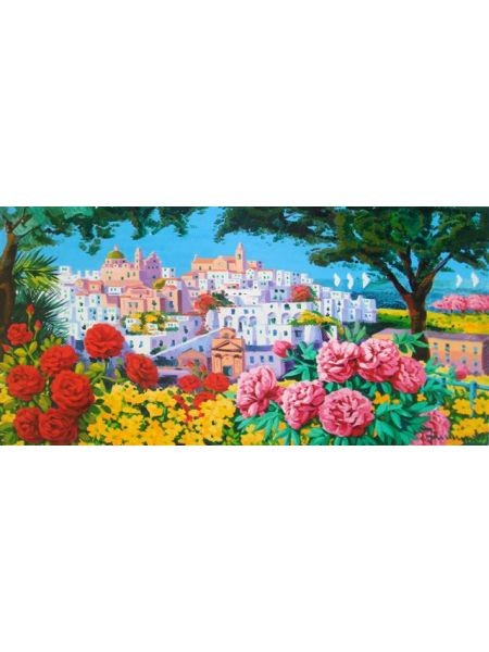 Luce sulla città bianca e fiori - Athos Faccincani