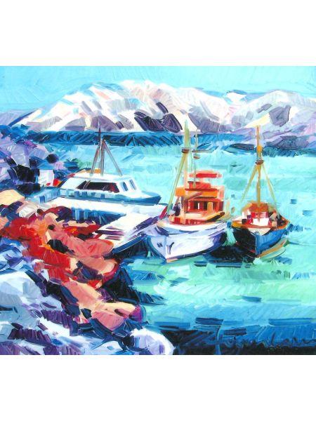 Barche a Sera - Athos Faccincani