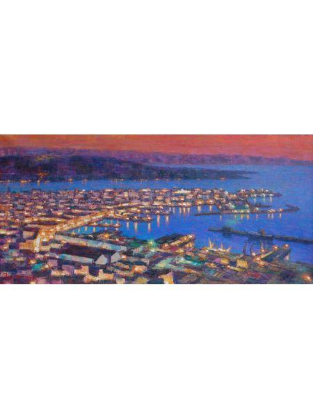 Trieste al crepuscolo della sera - Claudio Bonanni
