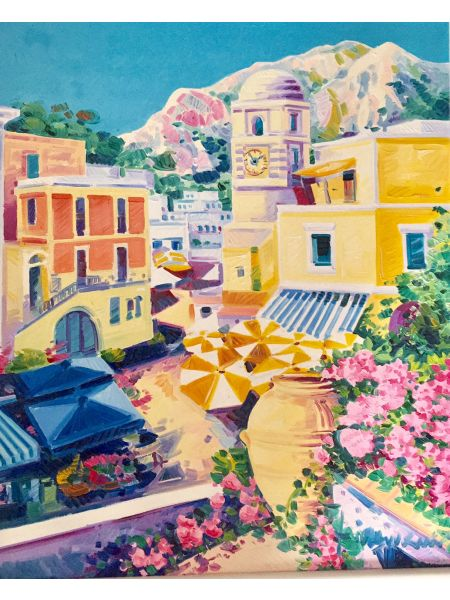 Prima Luce nella Piazzetta di Capri - Athos Faccincani