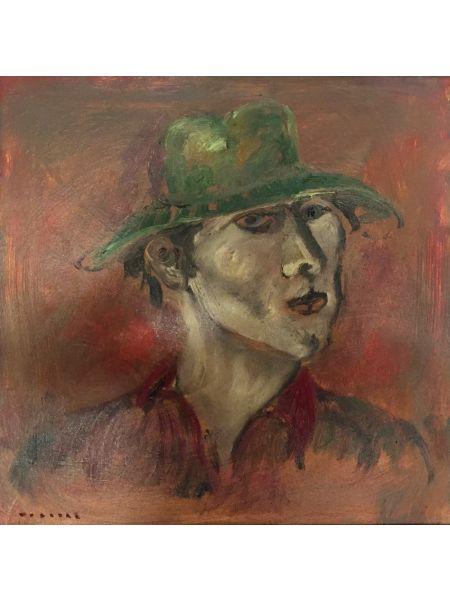 Autoritratto con Cappello Verde - Bruno Donadel