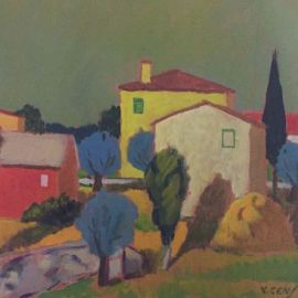 Paesaggio Toscano 25x35 - Vincenzo Censotti