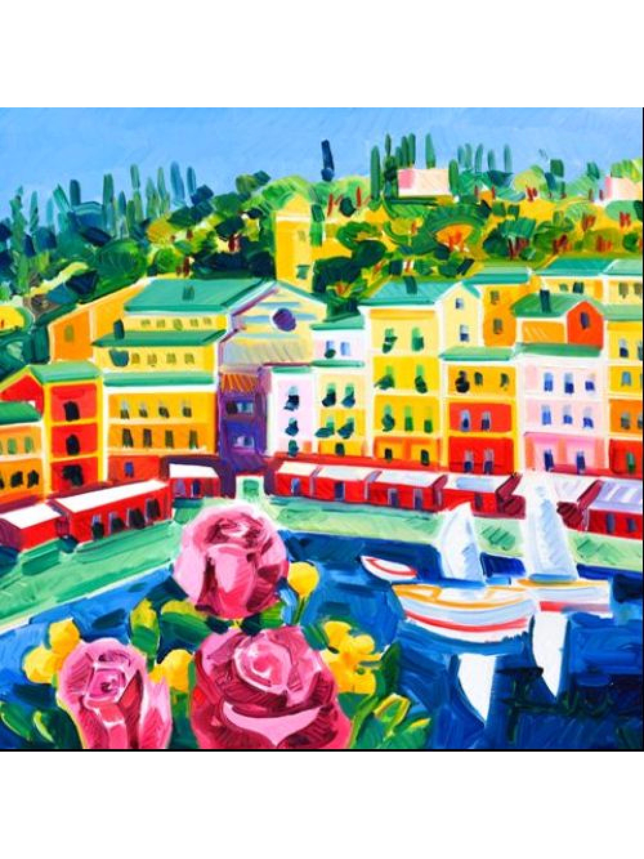 Tre romantiche rose a Portofino - Athos Faccincani