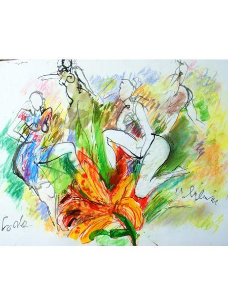 Le ragazze e fiore lilium - Gianni Borta