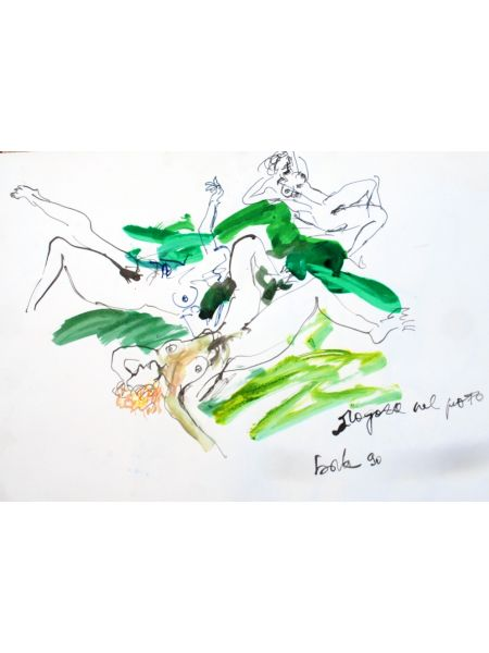 Ragazze nel prato - Gianni Borta