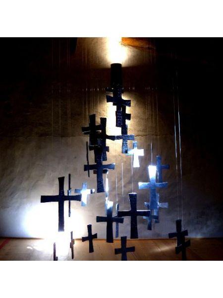 Installazione di 33 Croci - Giorgio Celiberti