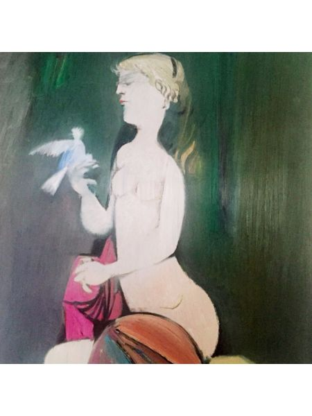 Figura con Colomba - Lino Dinetto