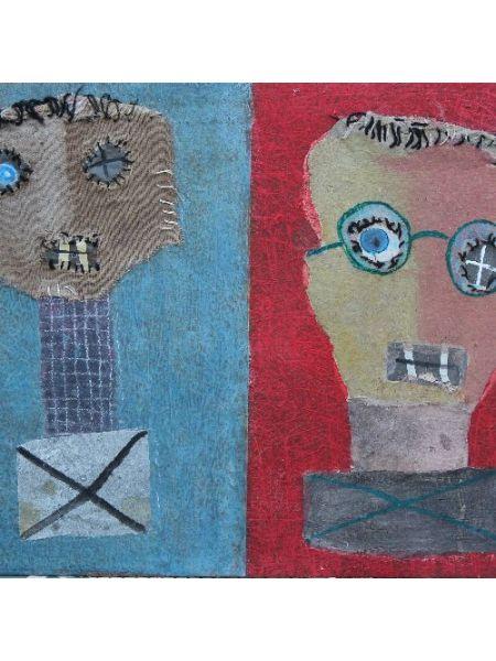 Autoritratto e La Maschera - Luigi del Sal