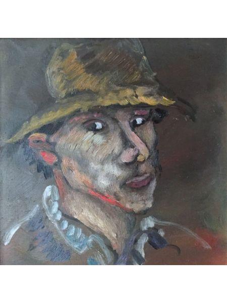 Autoritratto con Cappello - Bruno Donadel
